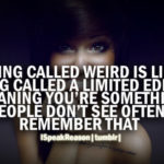 Weird Girl Quotes