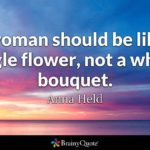 Woman Flower Quote