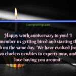Work Anniversary Message For Boss