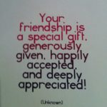 Your Friendship Is A Special Gift Quote